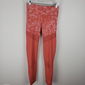 Adidas Tangerine or Pink Athletic Leggings Medium